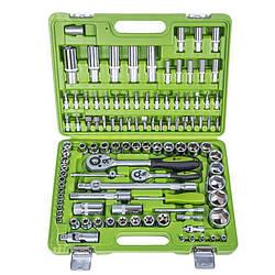 Универсальный набор инструментов Alloid на 108 предметов с головками с 6 гранями 1/4 и 1/2 дюйма (НГ-4108П-6)