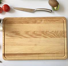 Большая кухонная разделочная доска 45 х 30 см из дерева с гравировкой, фото 3