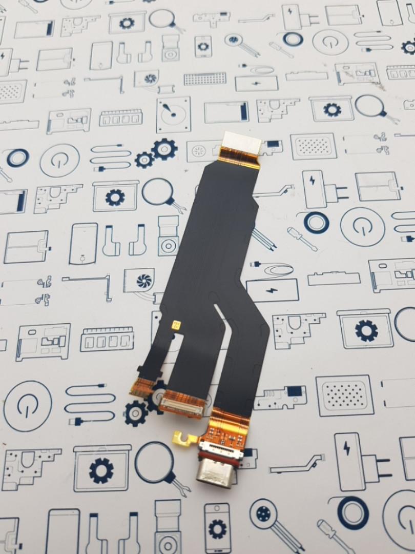 Шлейф с портом зарядки Sony XZ F8332 Сервисный оригинал с разборки