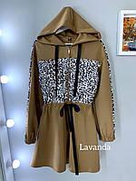 Платье женское Леопард красное, чёрное, кэмэл кэмэл, 42-44