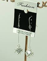 Милые длинные сережки от Swarovski. Бижутерия от РРР. 368