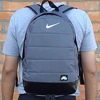Рюкзак городской, спортивный Nike Air, найк. Качество. Серый с черным, фото 1