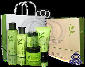 Подарочный набор для ухода за кожей Innisfree Green Tea Balancing Special Skin Care Set МЯТАЯ УПАКОВКА