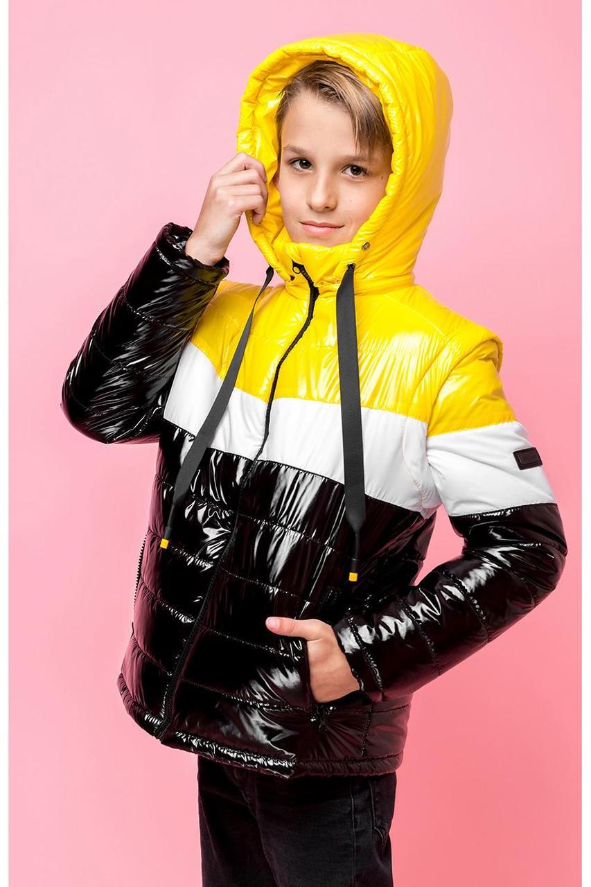 Детская  демисезонная куртка для мальчика, рукава отстегиваются vkm7, 128-164р.