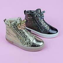 Детские ботинки демисезонные девочке серые Бант тм Том.м размер 27, фото 2