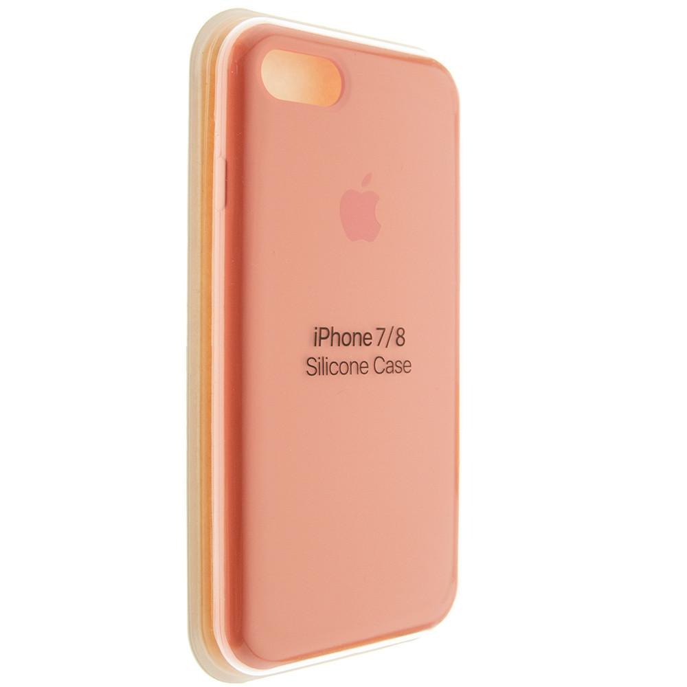 """Чехол Silicon iPhone 8 - """"Ярко-оранжевый №42"""""""