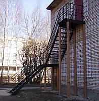 Многопролётная Пожарная Лестница №2 наружная