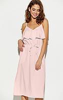 S, M, L / Молодіжне персикове повсякденне плаття