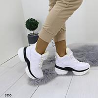 Женские кроссовки на платформе и танкетке,флис внутри,  хит продаж, фото 1