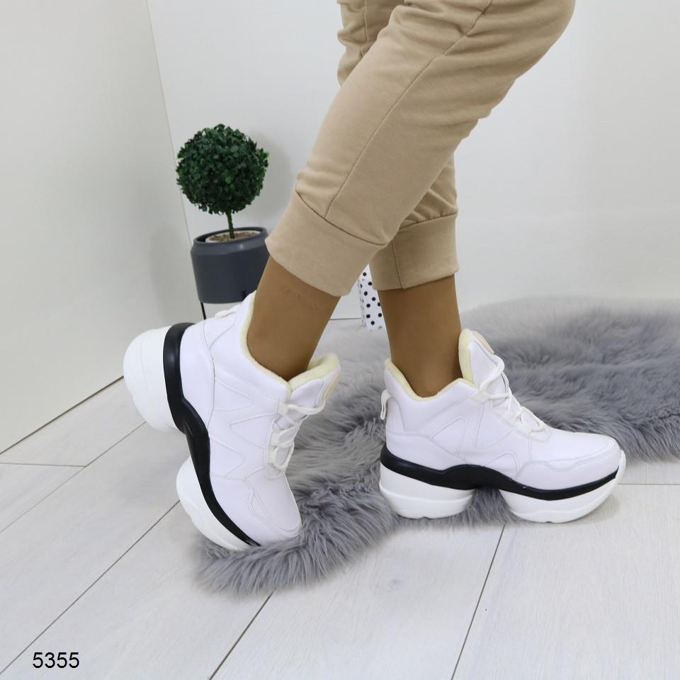 Женские кроссовки на платформе и танкетке,флис внутри,  хит продаж