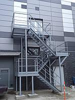 Многопролётная Пожарная Лестница №4 наружная