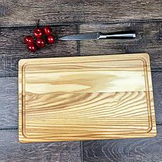 Деревянная кухонная разделочная доска 40 х 25 см с гравировкой, фото 3
