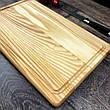 Деревянная кухонная разделочная доска 40 х 25 см с гравировкой, фото 2