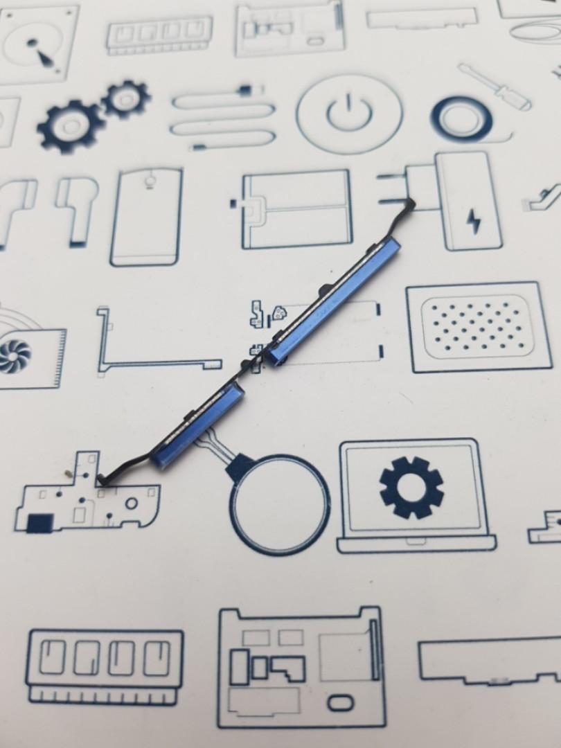 Кнопка пластиковая Meizu Note 8 M822H синяя Сервисный оригинал с разборки