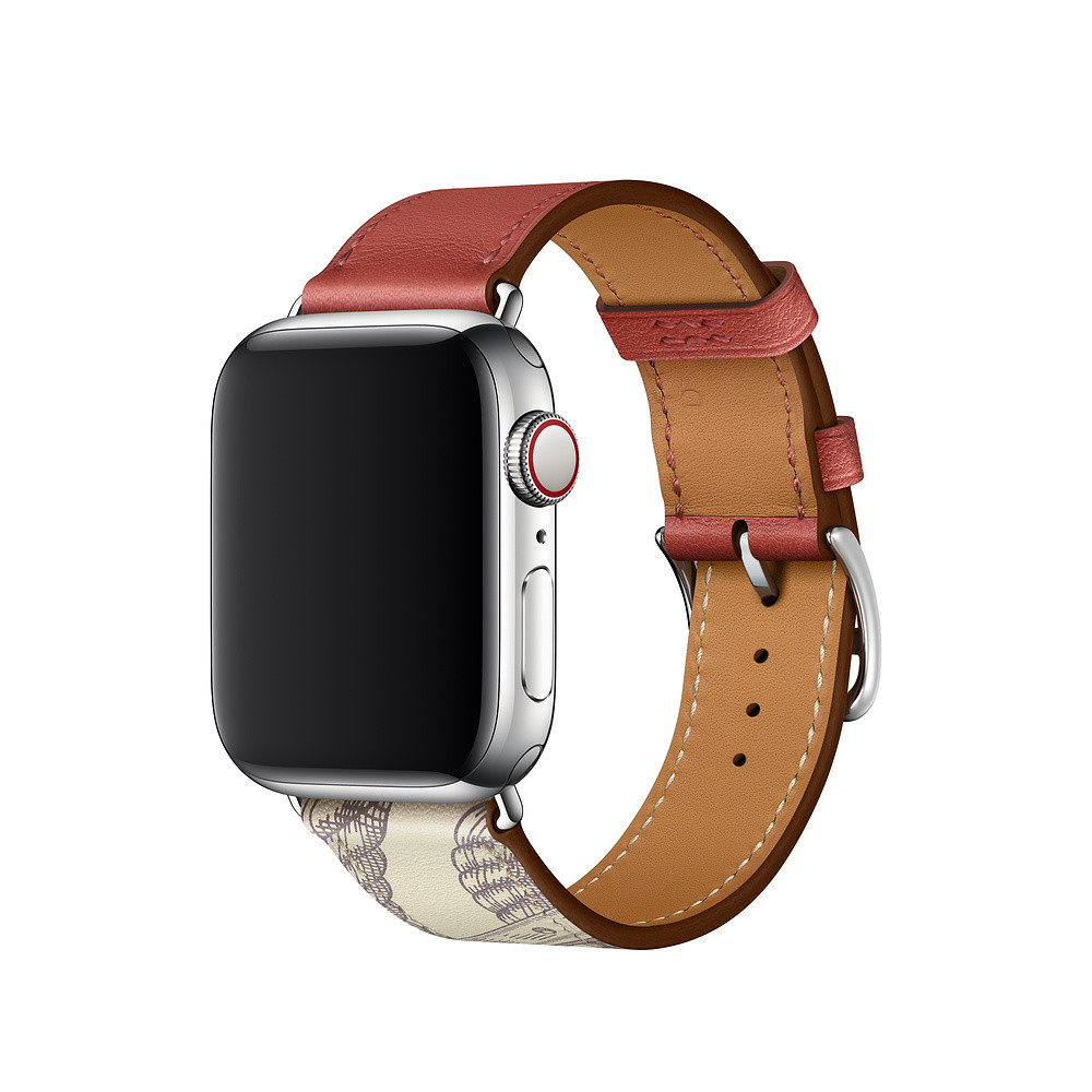 Ремешок для Apple Watch 42/44mm Hermes Single Tour Brique/Beton (AL4376)