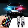 Автомобильные лампы RGB LED T10 с пультом (ходовые огни,салон), фото 2