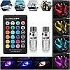 Автомобильные лампы RGB LED T10 с пультом (ходовые огни,салон), фото 4