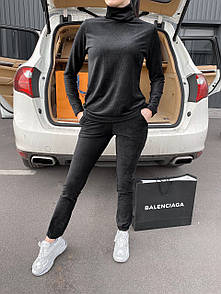 Женский спортивный костюм velvet black.Size S/M