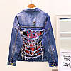 Джинсова куртка з потертостями