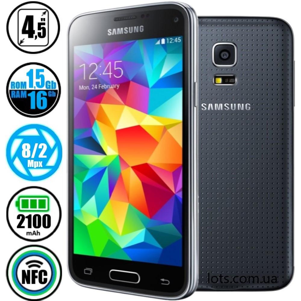 Смартфон Samsung Galaxy S5 Mini Duos SM-G800H Black (Оригинал) + Подарок Защитное Стекло