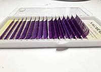 Ресницы Nagaraku фиолетовые MIX 7-15 мм. 0.10