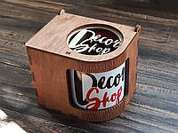 Подарочная коробка с подставкой для чашки