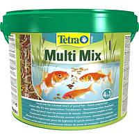 Корм для прудовых рыб Tetra POND Multi Mix 10л/1700гр ,три вида корма для рыб:хлопья, гранулы, табл. гаммаруса