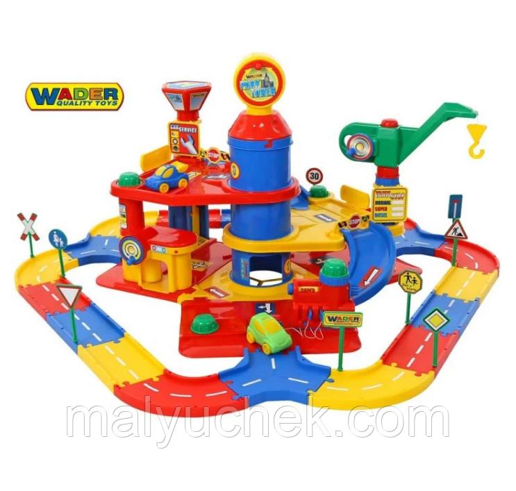 Игровой набор Паркинг 3 уровневый с дорогой и автомобилями Wader QT (37862)