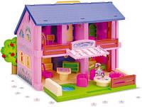 Двухэтажный кукольный домик Wader (25400)