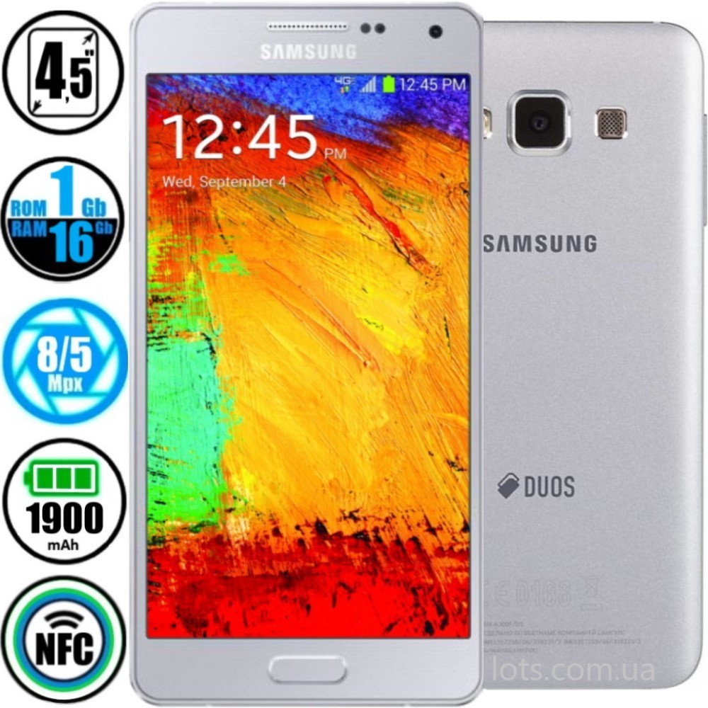 Смартфон Samsung Galaxy А3 A300H (1/16GB) Grey NFC (Оригинал) + Подарок Защитное Стекло