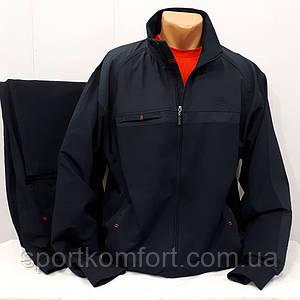 Батальный мужской спортивный трикотажный костюм, Soccer, Турция, тёмно-синий,  размеры 3хл, 4хл, 5хл, 6хл.