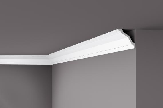 Карниз потолочный гладкий NMC WT 26 Wallstyle, лепной декор из полимера