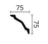 Карниз потолочный гладкий NMC WT 26 Wallstyle, лепной декор из полимера, фото 2