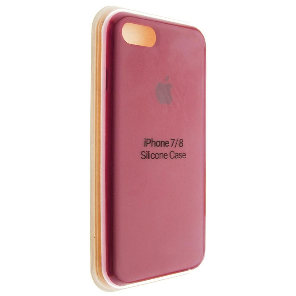 """Чохол Silicon iPhone 8 Plus - """"Темно-рожевий №36"""""""