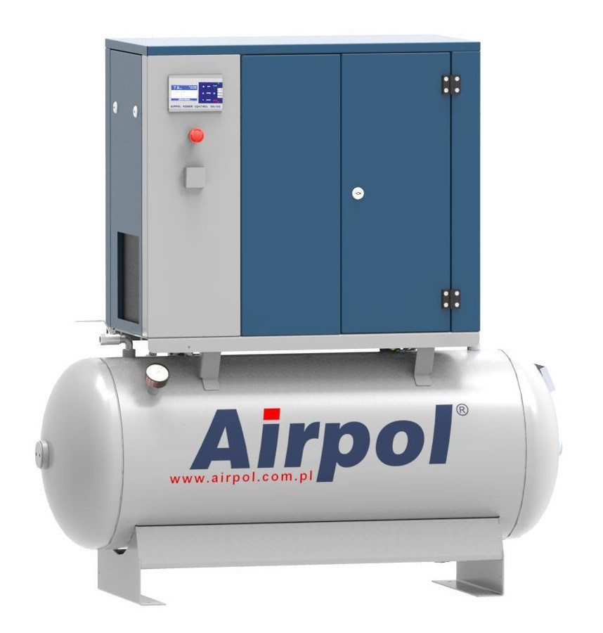 Компрессор винтовой Airpol K3 (0,8 МПа) на базе ресивера 240 л.