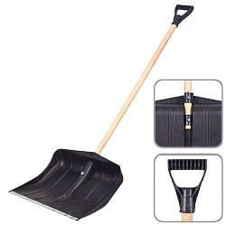 Лопата для снега Vitol с деревянной ручкой 137 см 370-450 мм (00000031722)