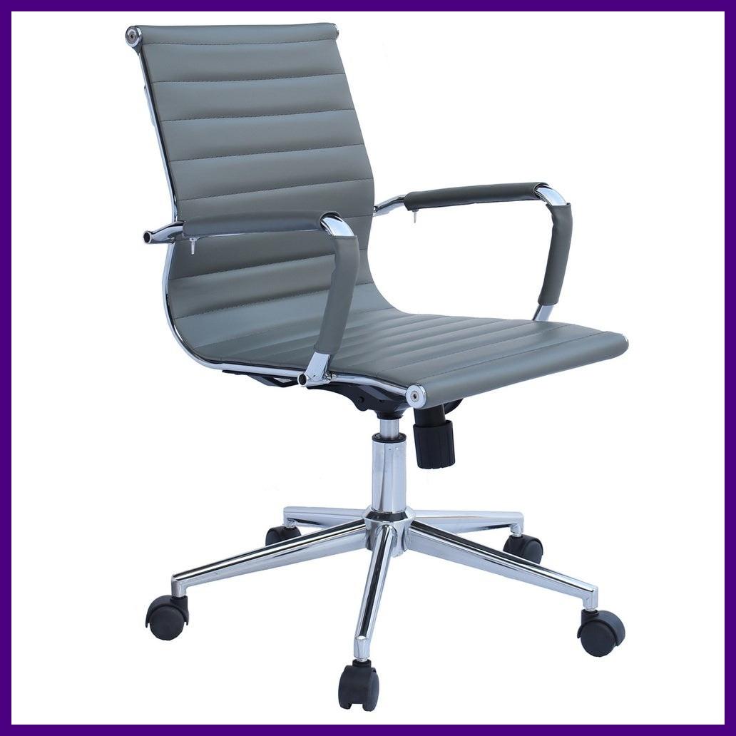 """Крісло Офісне Комп'ютерне BARDO B-605 Сіре ХРОМ """"Офісне Крісло"""