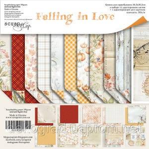 Набор двусторонней бумаги 30х30см от Scrapmir Falling in Love