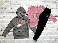 Спортивный костюм- тройка для девочек. 4 года.