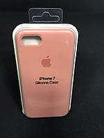 Чехол накладка Case защитный бампер для телефона Iphone 7 Soft Персиковый