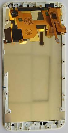 Модуль (дисплей + сенсор) для Motorola XT1570 / XT1572 Moto X Style + Frame White, фото 2