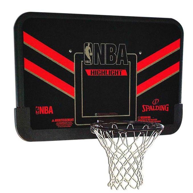 Щит баскетбольный игровой Basketball NBA Hoop 108х73 см с кольцом 49 см и сеткой (80798CN)