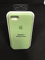 Чехол накладка Case защитный бампер для телефона Iphone 7 светло-зеленый
