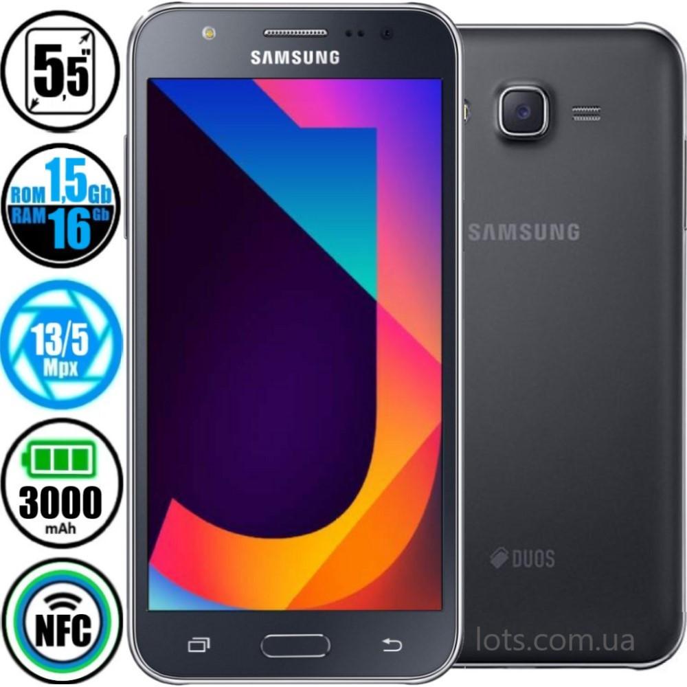 Смартфон Samsung Galaxy J7 Black SM-J700H (Оригинал) + Подарок Защитное Стекло
