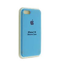 """Чехол Silicon iPhone 7 Plus - """"Голубой №16"""""""