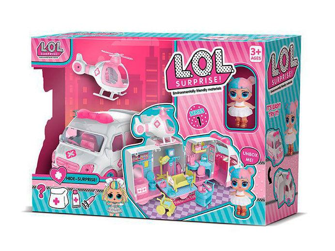 Набор с куклой , машина трансформируется, с аксессуарами, 2 куклы