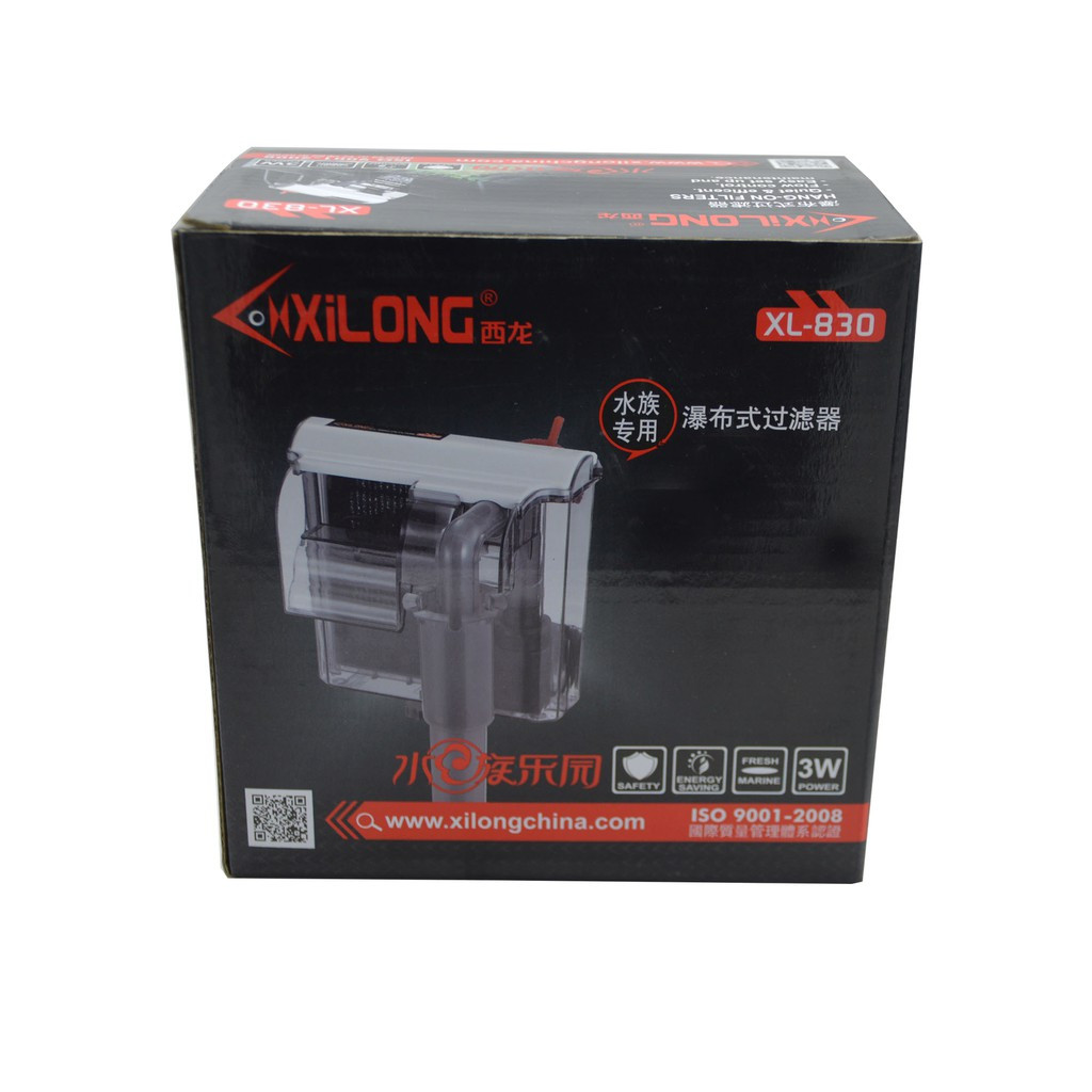 Xilong XL-830 Навесной фильтр для аквариума, 300 л/ч, 3 вт ( до 50 л )