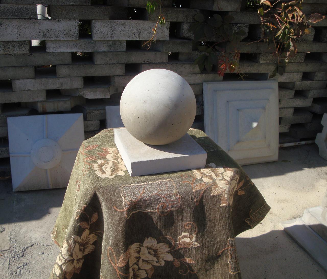 Шар бетонный на столб забора или декор для сада, сфера ф200мм шары для ландшафтного дизайна.
