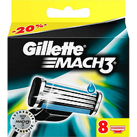 Сменные лезвия Gillette Mach3 8шт упаковка