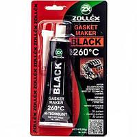Силиконовый герметик черный для прокладок термостойкий ZOLLEX RED 350°C 85г (Силикон термо золекс)